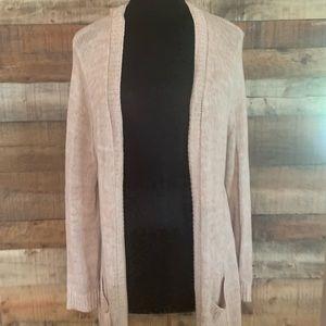 Torrid beige open front cardigan sweater, size 0